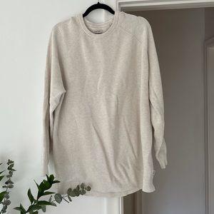 Esprit European Mens White Cotton Eco Sweater